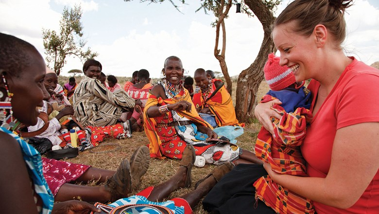 Travelers get to know the local community on a Me to We trip to Kenya.
