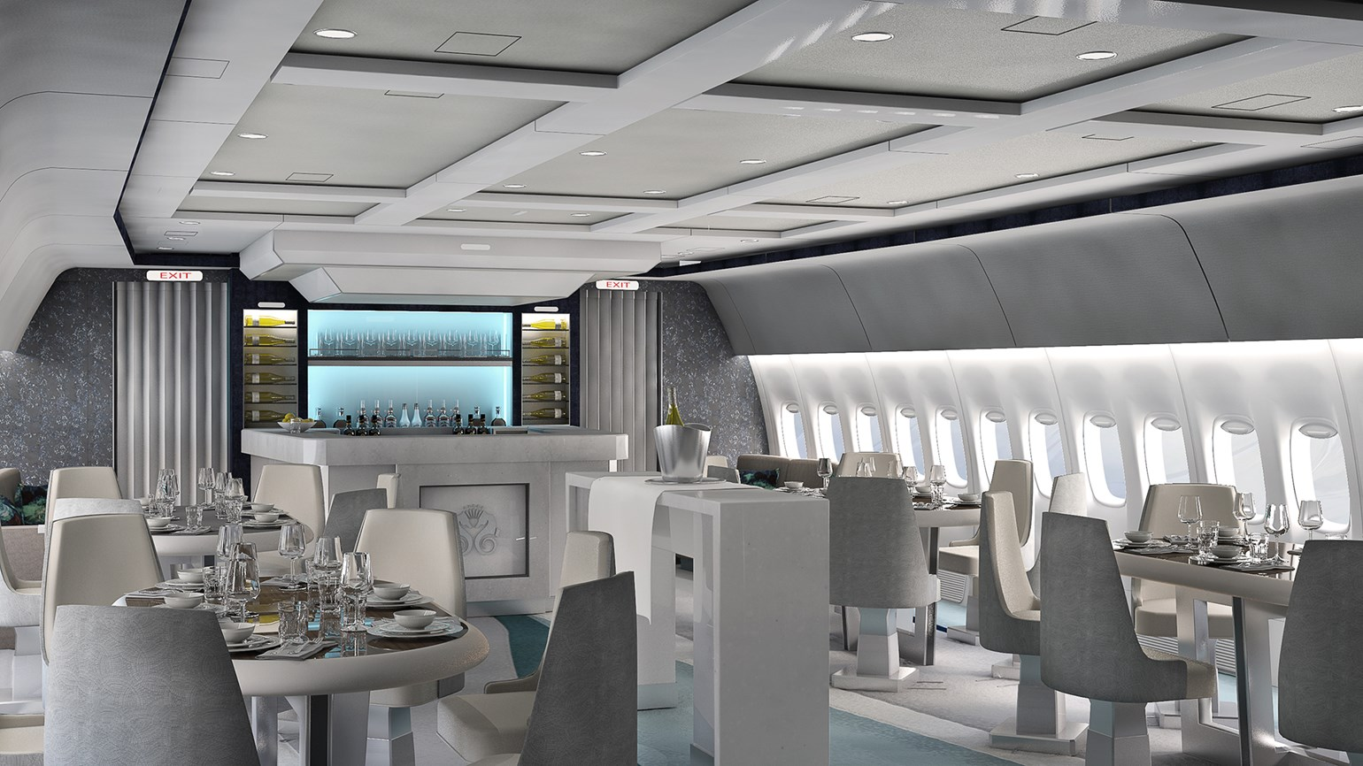 Crystal unveils jet interior for luxury air tours