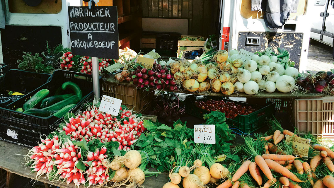 Produce in a market in Honfleur, where CroisiEurope's Seine Princess sailing begins. Photo Credit: Melissa Coleman