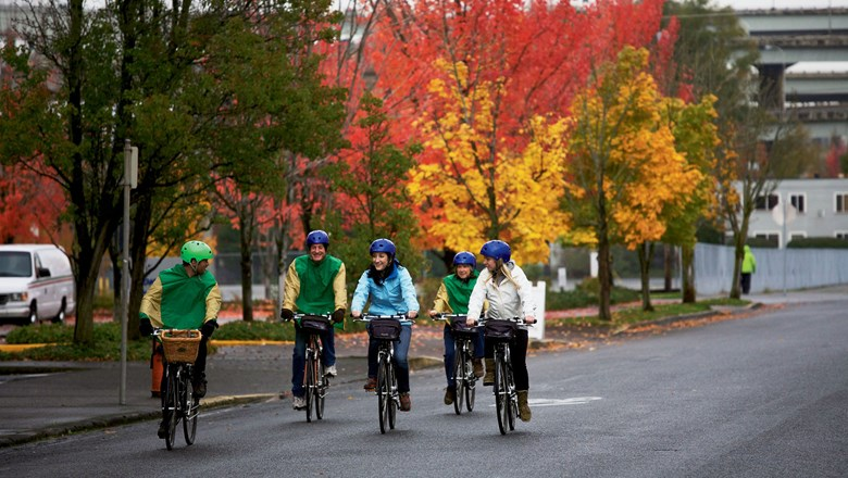 Pedal Bike Tours offers a variety of excursions, ranging from food carts to a pot tour, since recreational marijuana is legal in Oregon.