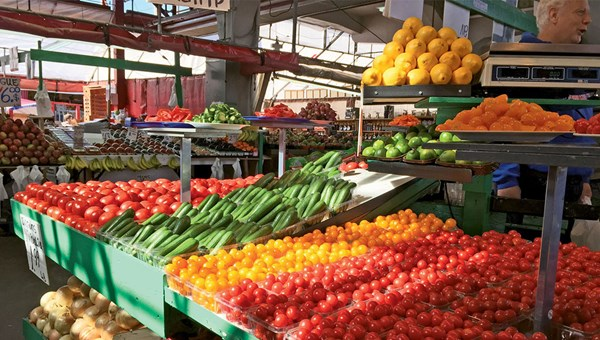 There's bountiful produce to be found during the height of the cruise season at the Jean-Talon Market in Montreal's Little Italy neighborhood.