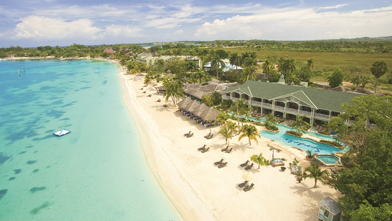 The Sandals Negril in Jamaica.