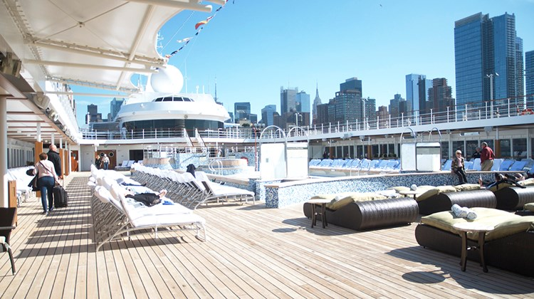 The pool deck area on Deck 11 of the Mariner will be completely overhauled, with a new look and new furniture.