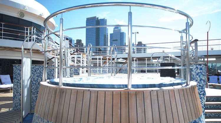 The Mariner's hot tubs will get shades over them to keep guests out of the hot sun.