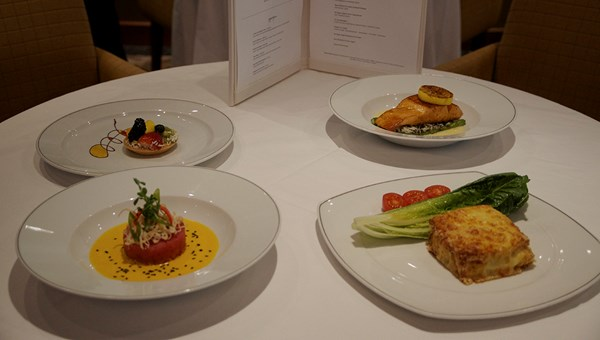 Some of the dishes from Compass Rose's new menu.