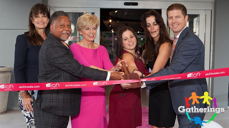 The grand opening of the Aloft Miami Dadeland was marked by an official ribbon cutting on Oct. 13. The property, formerly the Miami Dadeland Hotel, got a top-to-bottom refit prior to the debut. Doing the honors were, from left,  Mary Scott Russell, president, Chamber South;  Kenneth Fearn managing partner, Integrated Capital;  Donna Candreva, general manager, Aloft Miami Dadeland; Diane Rodriguez, director of sales, Aloft Miami Dadeland; investor Rebecca Johnston; and Dan Kurz, partner, Integrated Capital.