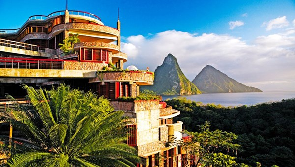 The Jade Mountain resort in St. Lucia achieved LEED Gold certification.