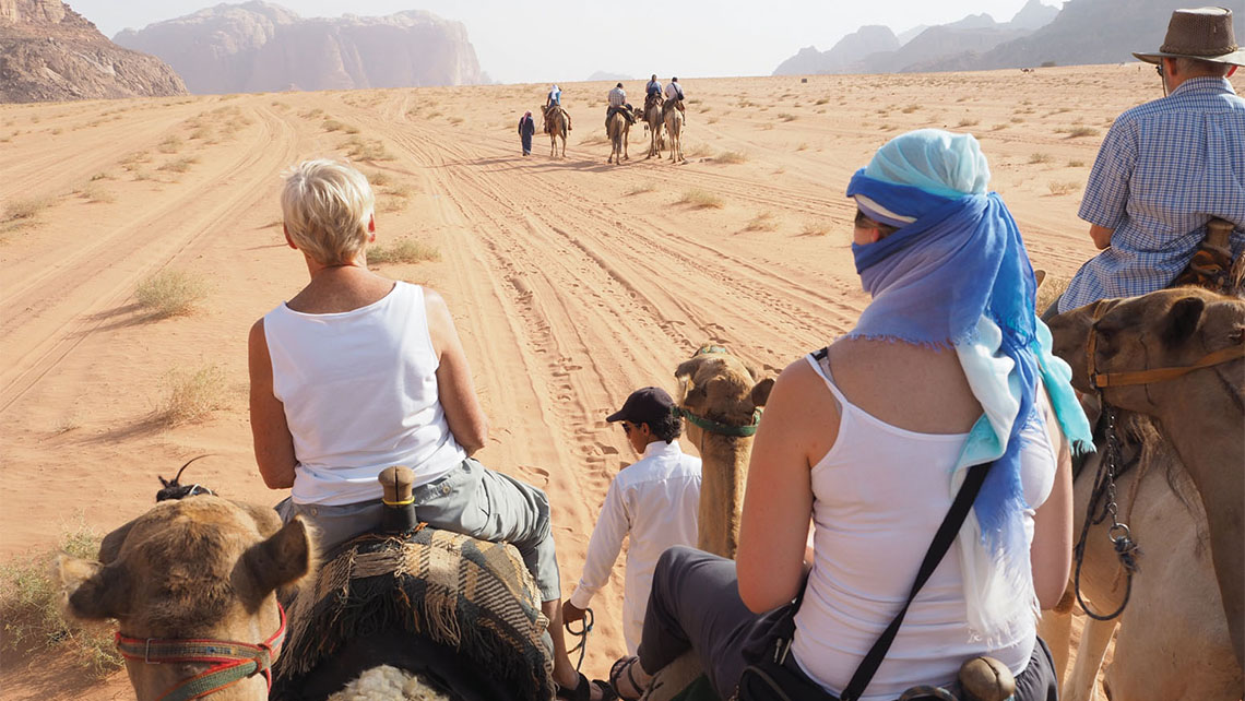 Even with animal rights organizations urging tour companies to stop selling wildlife tourist attractions, ShoreTrips.com reported that camel-ride excursion sales were up 200% for the year ending Sept. 30 compared with the same period the year before. Photo Credit: Michelle Baran