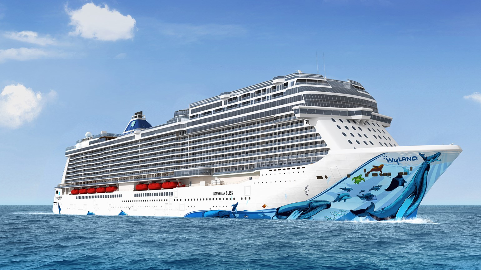 Humpback whales to adorn Norwegian Bliss hull