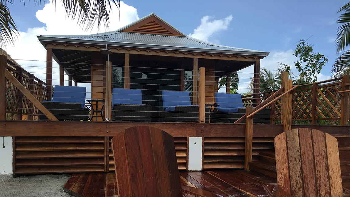Air-conditioned beach villas will rent for $475 per day.