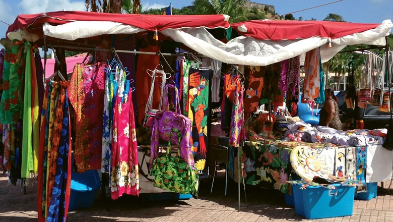 Marigot's open-air market operates in the town's main square Wednesdays and Saturdays.