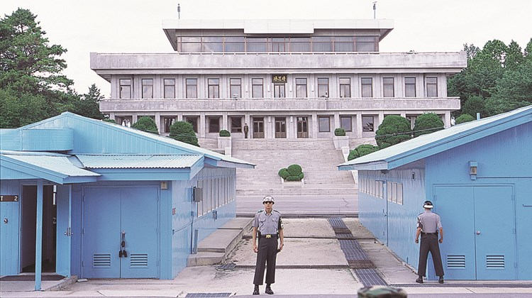 The Joint Security Area is the only area in the Demilitarized Zone where North and South Koreans stand face to face and is used by the two Koreas for diplomatic engagements.<br /><br /><strong>Photo Credit: Korea Tourism Organization</strong>