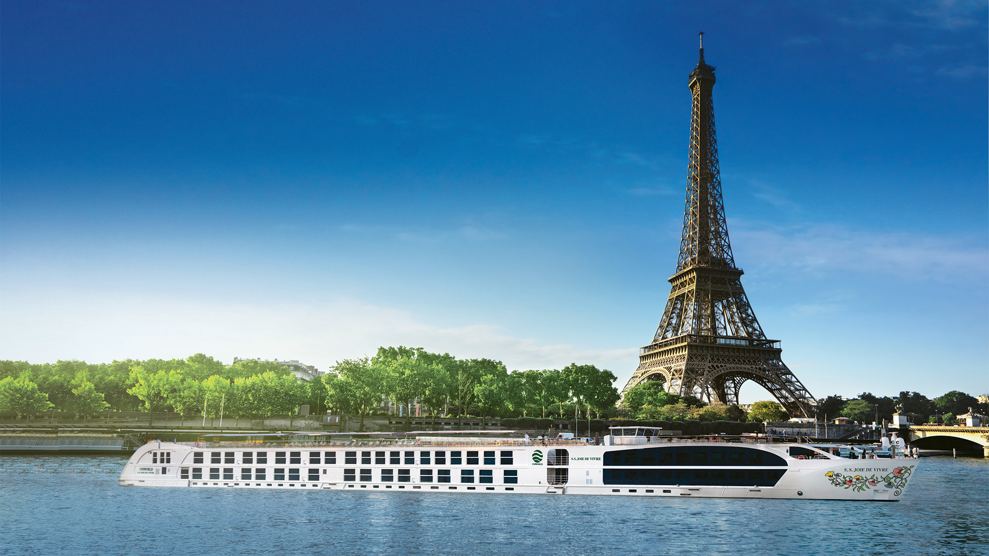 A rendering of the Joie de Vivre, which Uniworld plans to launch on France's Seine River in the spring.