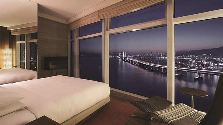 An Executive Suite room at the Park Hyatt Busan.<br /><br /><strong>Photo Credit: Courtesy of Park Hyatt Busan</strong>