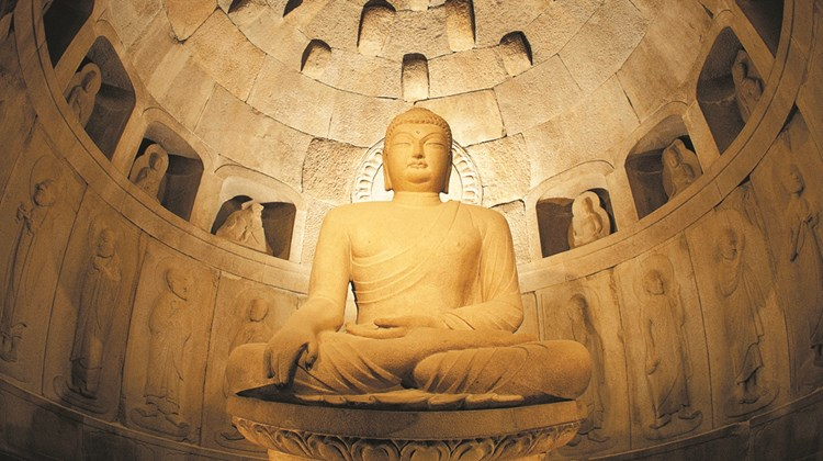 Beyond South Korea&#39;s capital, one finds a country of tradition and history that also has Olympic-size dreams and plans for the future. Pictured here, the sitting Buddha at the heart of the Seokguram Grotto, part of the Bulguksa temple complex built during the Silla Dynasty.<br /><br /><strong>Photo Credit: Korea Tourism Organization</strong>