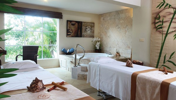 A spa treatment room at the Luxury Bahia Principe Cayo Levantado.