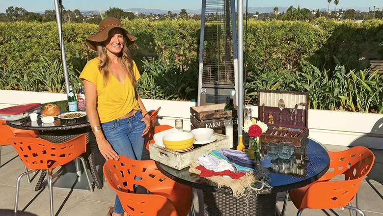 Personal chef Stephanie Goldfinger leads the Insta-Foodstylist Experience, one of Airbnb's excursions in the Los Angeles area.