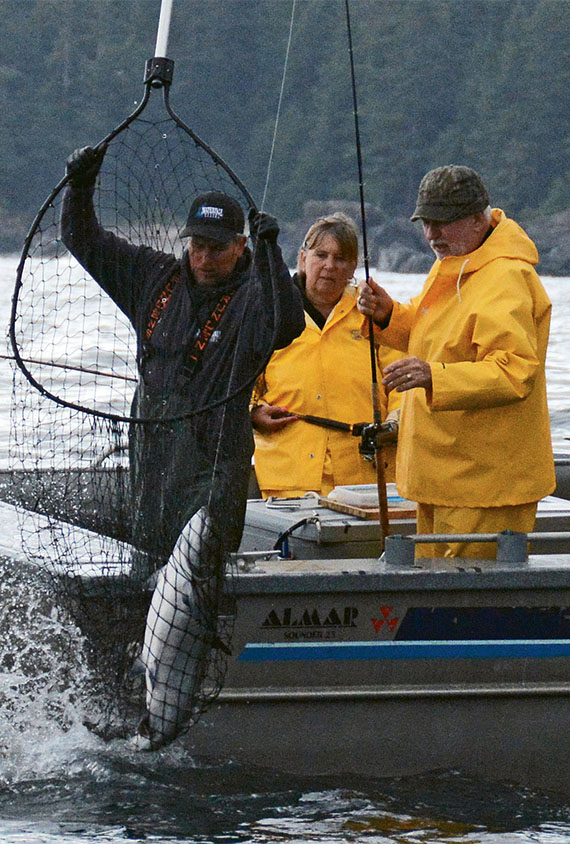 The Waterfall Resort offers fishing excursions and each year hold its King of Kings Salmon Tournament. Photo Credit: Mary Pemberton