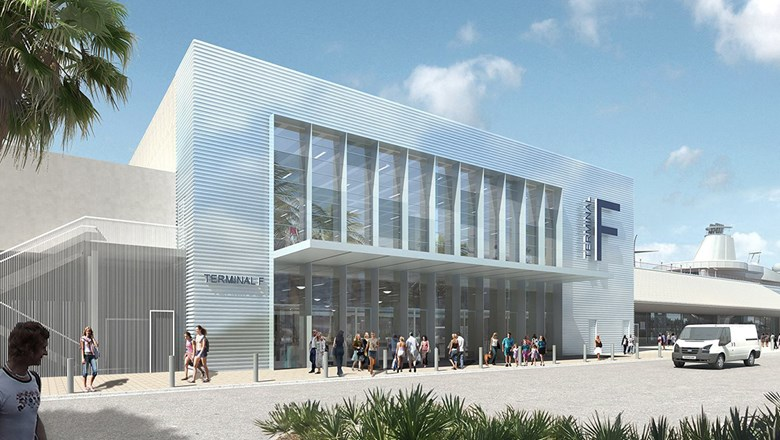 A rendering of PortMiami's expanded and renovated Terminal F.