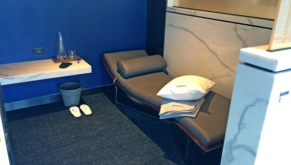 Polaris guests can use a private day bed suite, complete with adjustable lights and temperature.