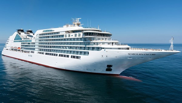 The 600-passenger Seabourn Encore will be christened in Singapore Jan. 7, the day it departs for its inaugural 10-day cruise.