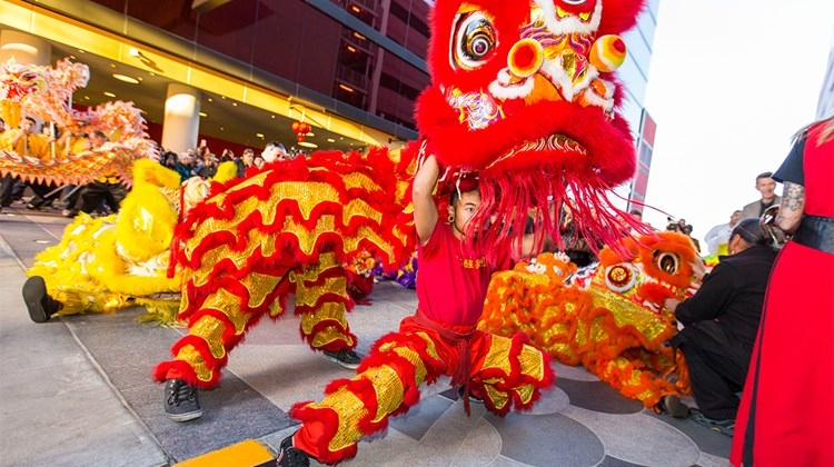 Lucky Dragon Hotel & Casino, located just off the Strip on Sahara Avenue, celebrated its grand opening Dec. 3. Festivities featured eye-opening dragon and lion ceremonies, traditional dances and crackling Chinese fireworks.