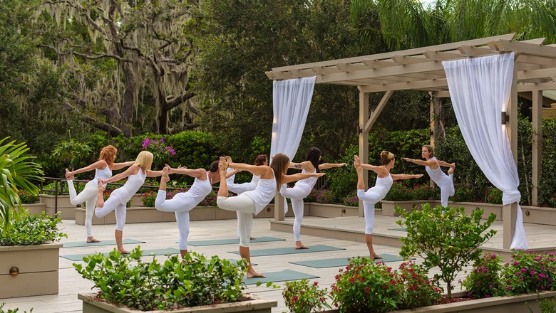 Yoga at the Innisbrook Golf & Spa Resort.