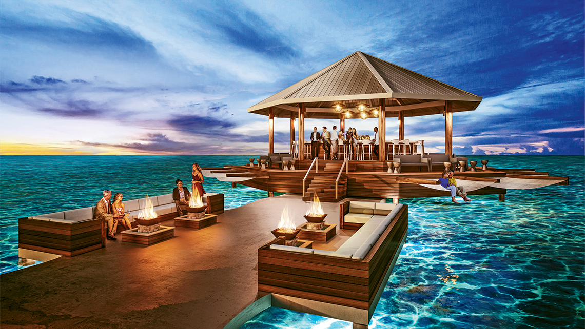 The Sandals South Coast's overwater bar will be named Latitudes.