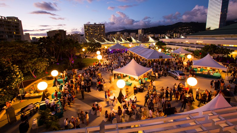The Hawaii Food and Wine Festival is held every fall across three islands. This event took place at the Hawaii Convention Center.