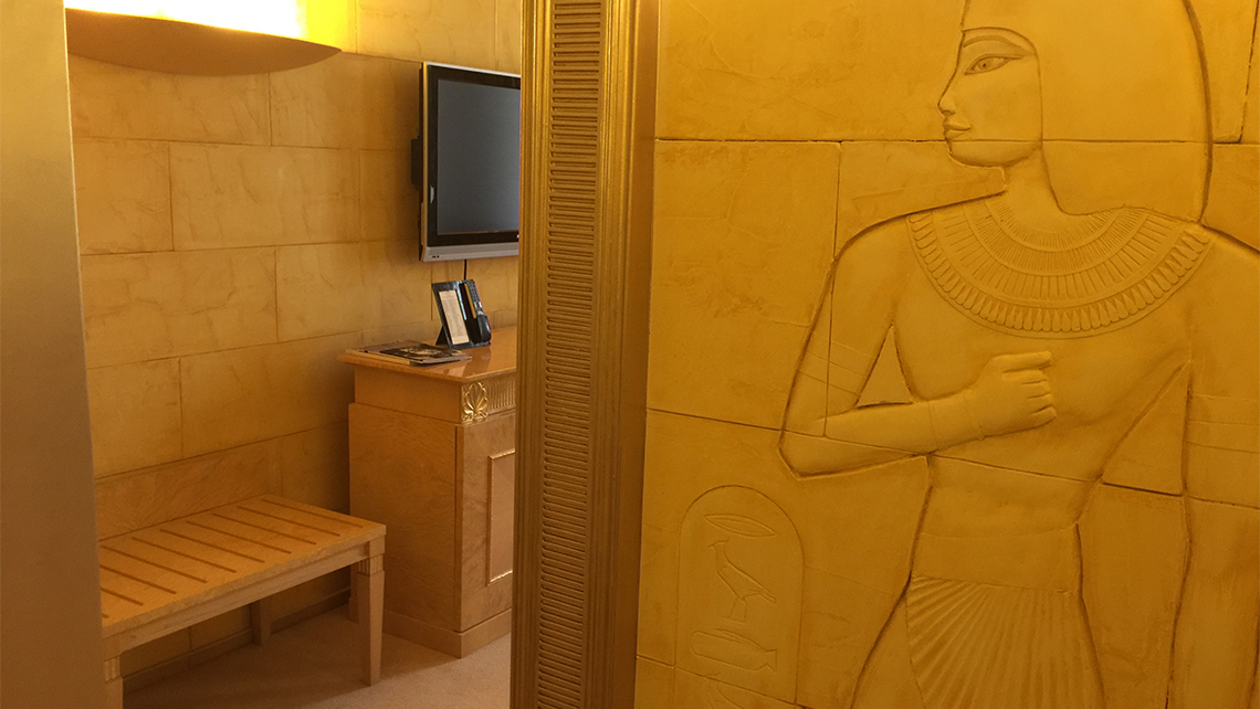 The Egyptian suite in Kiev's Opera Hotel. Photo Credit: Arnie Weissmann