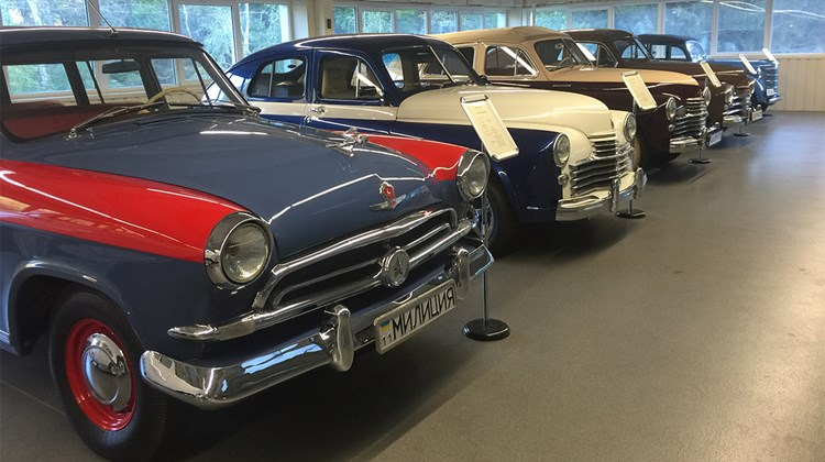 A few of the models displayed at Mezhyhirya&#39;s Museum of Antique Cars.<br /><br /><strong>Photo Credit: Arnie Weissmann</strong>
