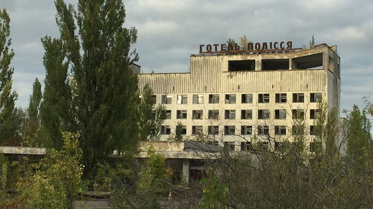 Pripyat&#39;s abandoned hotel.<br /><br /><strong>Photo Credit: Arnie Weissmann</strong>