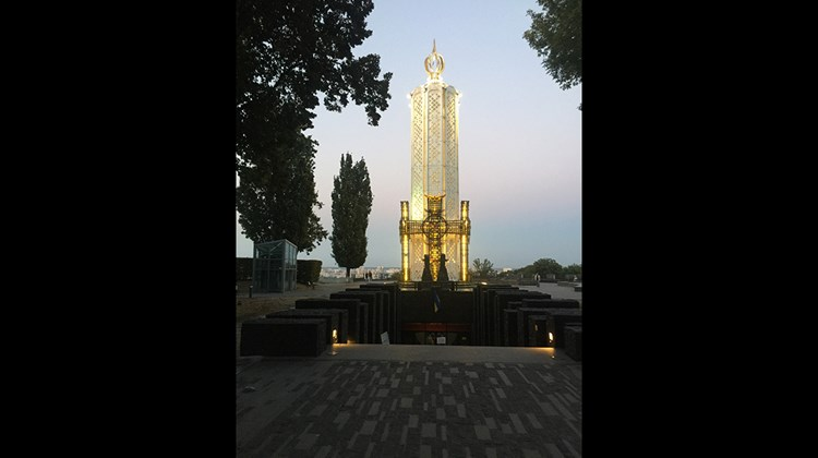 The Memorial to Holodomor Victims in Kiev commemorates a famine orchestrated by Soviet leader Josef Stalin in 1932-33 to repress a Ukrainian nationalist movement. Records were poorly kept, but an estimated 2.5-7.5 million Ukrainians starved to death in what is now regarded as an act of genocide.<br /><br /><strong>Photo Credit: Arnie Weissmann</strong>