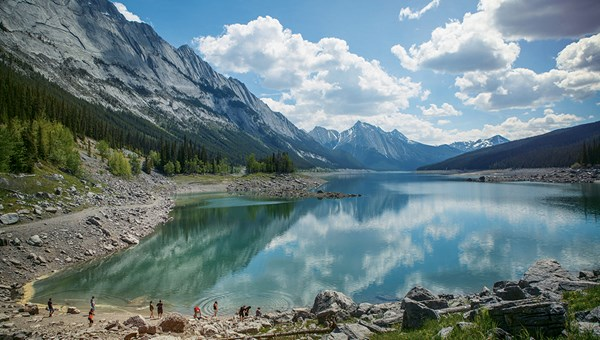 Canadian national parks are offering free admission this year in honor of the country's 150th birthday. Pictured, Jasper National Park in Alberta.