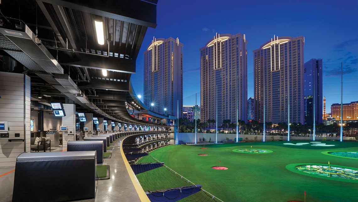 Topgolf opened May 19 as the company's flagship location.
