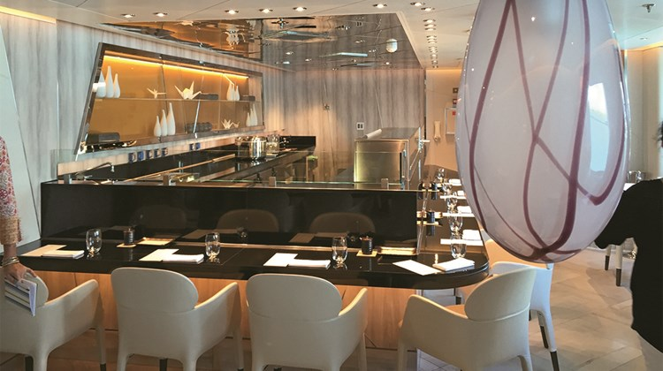 Sushi is a new restaurant to Seabourn, created by the addition of Deck 8.