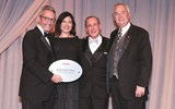 Travel Weekly's Bruce Shulman with Eva Jenner, Doug Seagle and Charles Dunwoody of Seabourn.