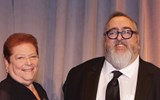 Lifetime Achievment Award winners Nicki Grossman, president of the Greater Fort Lauderdale Convention & Visitors Bureau from 1995 to 2016, and Barry Liben, chairman of Protravel International and Tzell Travel Group.
