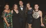 Emily Bertsch, Emma Brumbaugh, Ryan Doncsecz, Megan Doncsecz and Alison Murphy of VIP Vacations.