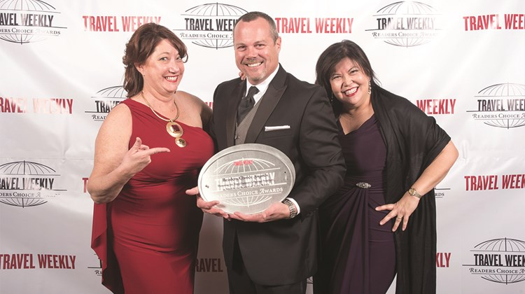 Michele Saegesser, Rob Huffman and Sandra Marshall of Viking Cruises.