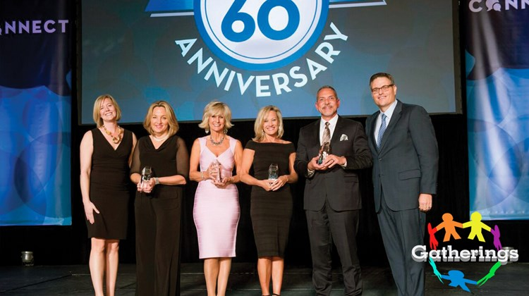 Signature Travel Network handed out its 2016 Travel Hero Awards during its annual sales meeting and trade show at the Mandalay Bay Resort in Las Vegas. The awards recognize individuals affiliated with a Signature preferred supplier partner who have gone beyond the call of duty to ensure excellent consultant/client service. Presenters were Karryn Christopher, far left, Signature senior VP of sales and marketing, and Alex Sharpe, far right, Signature president and CEO. Accepting awards, left to right, were Shemain Grasso of Regent Seven Seas Cruises (accepting on behalf of Tami Louis), Frances Broussard of Red Carnation Hotel Collection, Robyn Basso of the Hawaii Visitors & Convention Bureau and Ray Benevides of Classic Vacations.