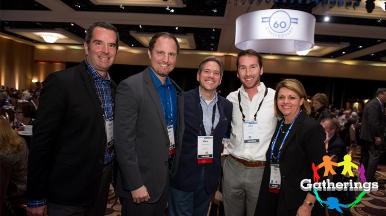 Signature Travel Network held its annual Sales Meeting and Trade Show at the Mandalay Bay Resort in Las Vegas. Among those in attendance were, from left, Steve Orens of Plaza Travel, Ryan Hansen of Bon Voyage Travel, Marc Kazlauskas of Frosch, Jake Orens of Plaza Travel and Olga Placeres of Preferred Travel of Naples.