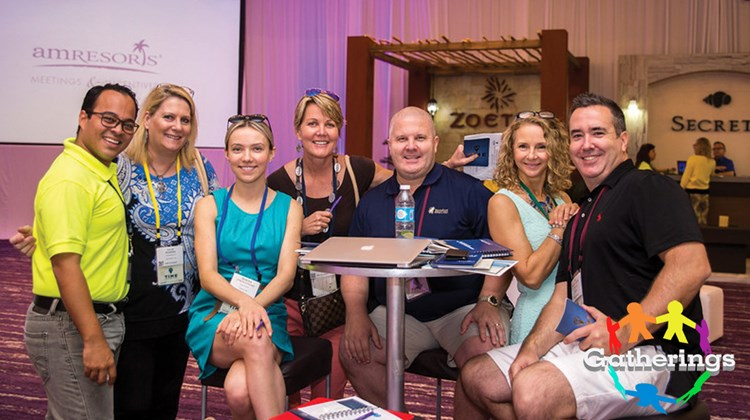 Among those attending the Incentives and Meetings Expo (TIME) at Breathless Riviera Cancun were, from left, Carlos Maliachi, group sales manager, Dreams Las Mareas; Julie Powers, regional director, Helms Briscoe; Monika Strzalkowska, account manager, Communique; Sissy Zeigler, independent planner, Point the Way Travel; Wes Hardwick, president, Capital Events; Suzanne Bailey, USMotivation; and Rob McGowan, vice president, Capital Events.