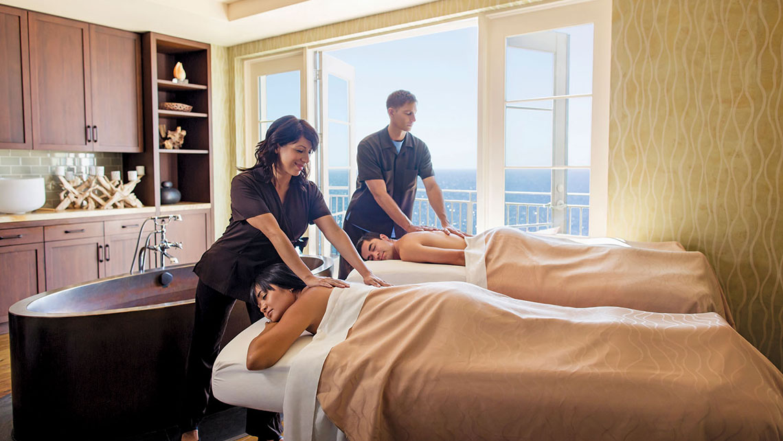 Terranea's 50,000-square-foot spa has 25 luxury treatment rooms, all of which face the ocean.
