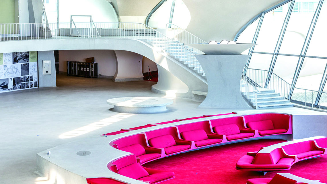 The sunken lounge of the TWA Flight Center will be a centerpiece of the hotel. Photo Credit: Max Touhey