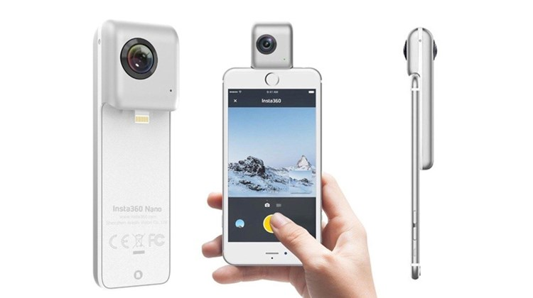 If you are all about travel photography, selfies and social media sites the Insta360 Nano Camera will fit nicely in your camera bag. Small and lightweight, it is capable of producing 360-degree images, videos and live-streams directly from your smart phone. The camera, which is compatible with iPhones from 6 to 7 Plus or can be used alone, offers 3040 by 1520 resolution, a fisheye lens and a generous 64G of storage capability. As a bonus of sorts, the Insta360's packaging can be converted into a Google Cardboard virtual reality viewer.