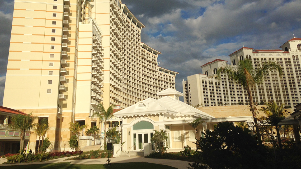 The Grand Hyatt at Baha Mar plans to open 200 rooms on April 21, and the remaining 1,600 rooms will open in phases through December 2017. Photo Credit: Gay Nagle Myers