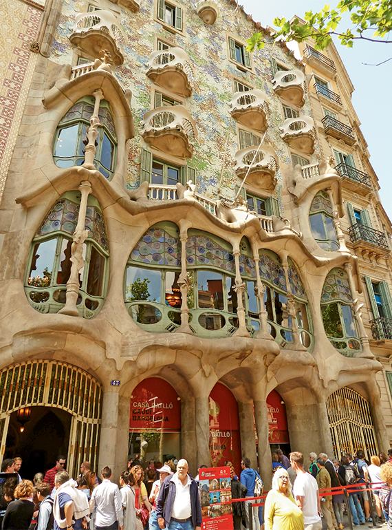 La Casa Batllo, a top tourist attraction in Barcelona.
