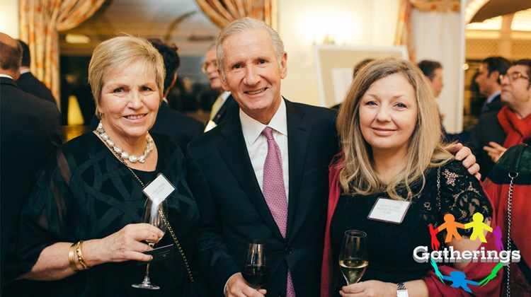 Travel Leaders Group held an exclusive event for Protravel International, Tzell Travel Group and Travel Leaders Network agents at the Hotel du Cap Eden Roc in Antibes, France, during the recent International Luxury Travel Market. Among those gathered for the event were, from left, Leslie Gordon of the Travel Collaborative, a Tzell agency; Mike Batt, Travel Leaders Group founder and chairman; and Suzette Vides of Travel Leaders, Reno, Nev.