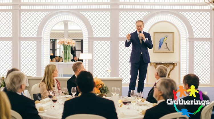 Oetker Collection CEO Frank Marrenbach addresses guests at Travel Leaders Group's event for Protravel International, Tzell Travel Group and Travel Leaders Network agents at the Hotel du Cap Eden Roc in Antibes, France. The event coincided with the annual International Luxury Travel Market in Cannes.